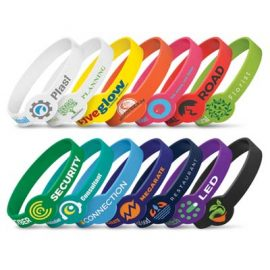 The Trends Collection Xtra Silicone Wrist Band is a silicone wrist band with extra branding spot.  14 colours.  Great branded silicone wrist bands for events.