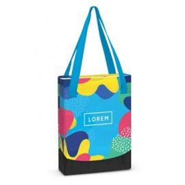 The Trends Collection Plaza Tote Bag - Full Colour Small - is a small tote bag.  Sublimation printed.  Great branded full colour tote bags from Trends Collection.