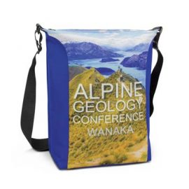The Trends Collection Monaro Conference Cooler - full colour - is a unique satchel style conference or event cooler bag. Sublimation printed. Great full colour cooler bags.