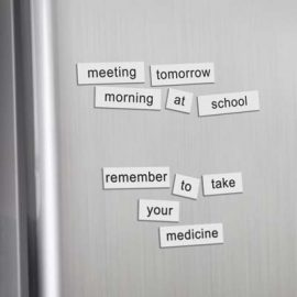 The Trends Collection Fridge Magnet Word Set is a magnetic sheet with 123 die cut word tiles.  Full Colour digital print.  Great branded magnet word sets.