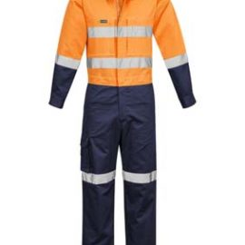 The Syzmik Mens Rugged Cooling Taped Overall is a 240gsm cotton ripstop overall with multiple pockets.  2 colours.  Great branded hi vis overalls.