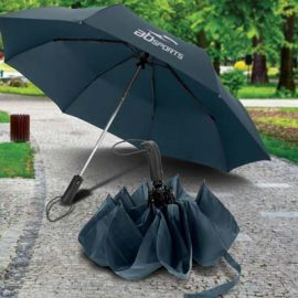 The TRENDS Prague Compact Umbrella is a compact 53cm. 3 stage folding umbrella.  Auto open.  2 colours.  Great branded umbrellas for your clients.