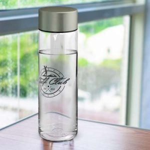 The TRENDS Aqua Bottle is an extra large, 900ml drink bottle with timeless design.  Stainless steel lid.  Branding on bottle and lid.  Great branded bottles.