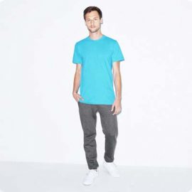 The American Apparel Unisex Jersey Tee is a 146gsm ring spun cotton jersey tee. 9 colours., XS - 3XL. Great branded jersey tees from American Apparel.