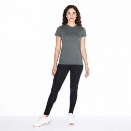 The American Apparel Ladies Jersey Tee is a 146gsm ring spun cotton jersey tee.  5 colours.,  S - 2XL.  Great branded jersey tees from American Apparel.