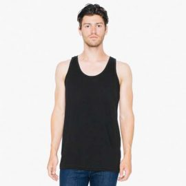 The American Apparel Unisex Tank Top is a 146gsm 100% combed ring spun cotton.  4 colours.  XXS -2XL.  Great branded singlets from American Apparel.