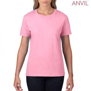 The Anvil Lightweight Ladies Tee is a 155gm pre shrunk 100% ring spun cotton tee.  16 colours.  S - 3XL.  Great branded cotton lightweight tees.