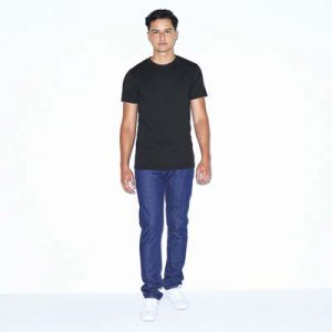 The American Apparel Unisex Tee is a 125gsm 50% cotton, 50% polyester tee. 4 colours. S - 2XL. Slim fit. Great branded American Apparel Tees.
