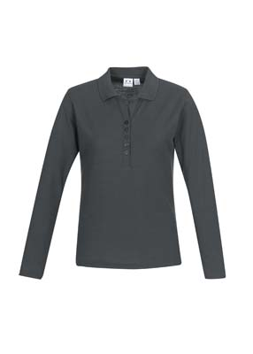 The Biz Collection Ladies Crew Long Sleeve Polo is a 65% polyester, 35% cotton pique long sleeve polo. 3 colours. Great branded long sleeve polo shirts.