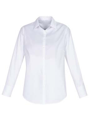 The Biz Collection Ladies Camden Long Sleeve Shirt is a 97% cotton business shirt. 6 - 26. Blue or White. Great branded work shirts from Biz Collection.