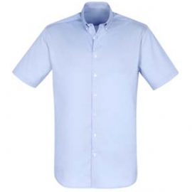 The Biz Collection Mens Camden Short Sleeve Shirt is a 97% cotton business shirt.  XS - 5XL.  Blue or White.  Great branded work shirts from Biz Collection.