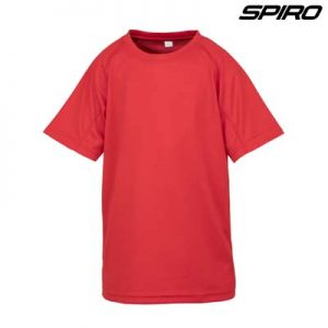 The Spiro Impact Performance Aircool Youth T Shirt is an air dry soft mesh fabric tee.  15 colours.  4 - 14.  Great branded quick dry tees from Spiro.