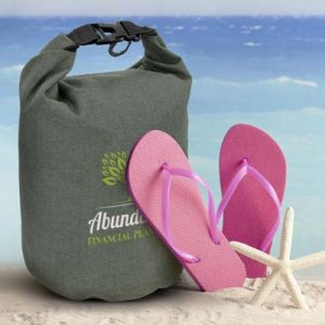 The TRENDS Nautica Dry Bag 5L is a waterproof dry bag, great for storing valuables. Grey. Heather finish. Great branded dry bags from TRENDS.