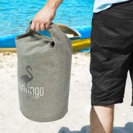 The TRENDS Nautica Dry Bag 10L is a waterproof dry bag, great for storing valuables. Grey. Heather finish. Great branded dry bags from TRENDS.