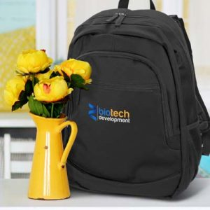 The TRENDS Berkeley Backpack is a robust backpack with internal laptop sleeve & multiple pockets. 2 colours. Great branded backpacks from TRENDS.