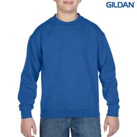 The Gildan Youth Crew Neck Sweatshirt is a 50% cotton/50% polyester crew sweat.  8 colours.  S - XL.  Great branded crew sweatshirts from Gildan.