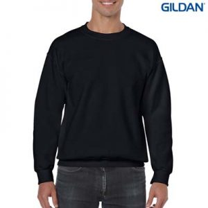 The Gildan Adult Crew Neck Sweatshirt is a 50% cotton/50% polyester crew sweat.  9 colours.  S - 5XL.  Great branded crew sweatshirts from Gildan.