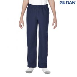 The Gildan Youth Open Bottom Sweatpants are a 50% cotton open bottom track pant.  3 colours.  XS - XL.  Great sports track pants from Gildan.