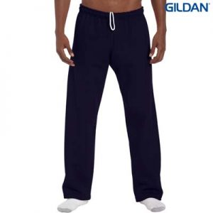 The Gildan Adult Open Bottom Sweatpants are a 50% cotton open bottom track pant.  5 colours.  S - 5XL.  Great sports track pants from Gildan.