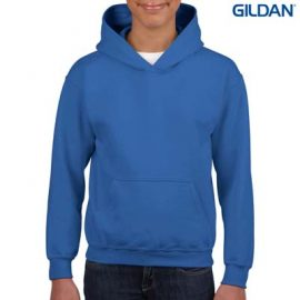 The Gildan Youth Hooded Sweatshirt is a 50% cotton, 279gsm sweatshirt. 8 colours. XS - XL. Great branded cost effective hoodies for all occasions.