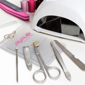 The TRENDS Vinyl Manicure Set is a translucent vinyl manicure set.  Branding on pouch.  Great branded beauty promotional products.