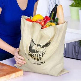 The TRENDS Matakana Foldaway Tote Bag is a compact reusable tote bag made from unbleached cotton.  Great branded cotton foldaway tote bags.