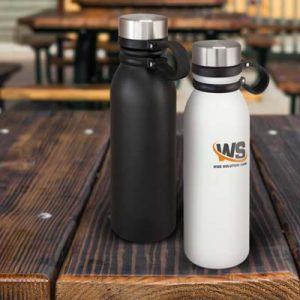 The TRENDS Renault Vacuum Bottle is a robust 600ml double wall vacuum bottle. Stainless steel. Black or White. Great branded vacuum bottles.