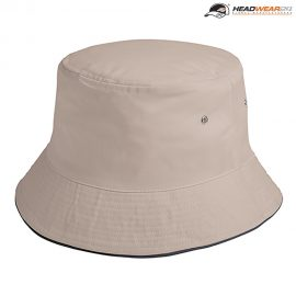 The Headwear24 Sandwich Bucket Hat is a 185gsm brushed cotton twill bucket hat.  4 sizes.  10 colours.  Great branded or unbranded bucket hats for all ages.