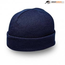 The Headwear24 Cuffed Knitted Beanie is an acrylic knitted beanie with fold up cuff.  OSFA.  10 colours.  Great cuffed beanies ready for your logo.