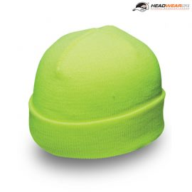 The Headwear24 Acrylic Fluro Beanie is an acrylic knit beanie.  Fluro Yellow and fluro orange.  One Size.  Great branded hi vis beanies from Headwear24.