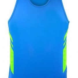 The Aussie Pacific Mens Tasman Singlet is a 150gsm, driwear 100% polyester singlet.  32 colours.  S - 5XL.  Great branded singlets from Aussie Pacific.