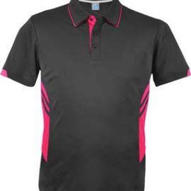 The Aussie Pacific Mens Tasman Polo is a 150gsm, driwear polyester polo shirt.  Ladies and Kids available.  32 colours.  Great branded polos from Aussie Pacific.