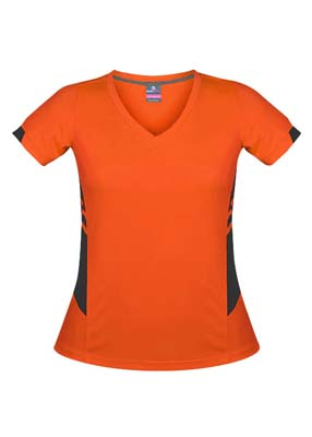 The Aussie Pacific Ladies Tasman Tee is a 150gsm, 100% polyester tee. 29 colours. 4 - 20. Snag resistant. Great branded tees from Aussie Pacific.