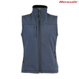 The Result Ladies Classic Softshell Vest is a waterproof, breathable, windproof softshell vest.  2 colours.  S - 2XL.  Great bonded softshell vests from Result.