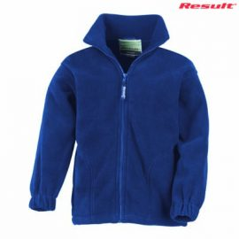 The Result Polartherm Youth Full Zip Jacket is a 330gsm polyester fleece.  6 colours.  6 - 14.  Great branded full zip fleece jackets from Result.