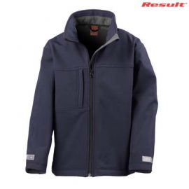 The Result Youth Classic Softshell Jacket is a waterproof, breathable, windproof softshell jacket.  2 colours.  S - 2XL.  Great bonded waterproof softshell jackets.