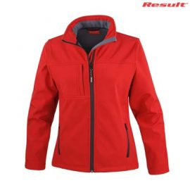 The Result Ladies Classic Softshell Jacket is a waterproof, breathable, windproof softshell jacket.  4 colours.  S - 2XL.  Great bonded waterproof softshell jackets.