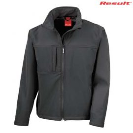 The Result Mens Classic Softshell Jacket is a waterproof, breathable, windproof softshell jacket.  4 colours.  S - 5XL.  Great bonded waterproof softshell jackets.