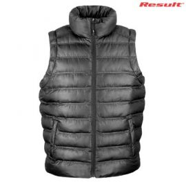 The Result Urban Mens Snowbird Hooded Vest is a relaxed fix puffer vest. S - 5XL. Black or Navy. Great branded puffer vests from Result.