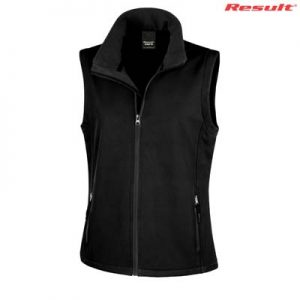 The Result Ladies Core Printable Softshell Vest is a slim fit. polyester outer with microfleece inner, vest. S - 3XL. 2 colours. Great softshell vests.