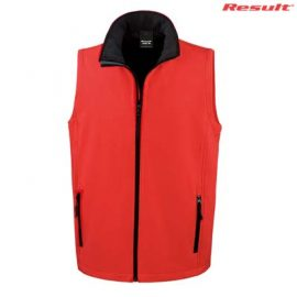 The Result Mens Core Printable Softshell Vest is a slim fit. polyester outer with microfleece inner, vest. S - 5XL. 3 colours. Great softshell vests.