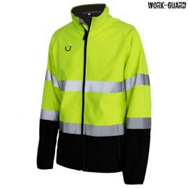 The Work-Guard Printable Softshell Safety Jacket is a 120gsm 100% polyester hi vis softshell jacket.  2 colours.  S - 5XL.  Great branded printable hi vis workwear.