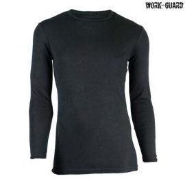 The Work-Guard Round Neck Thermal Top is a 265gsm poly/viscose thermal top.  Black or Navy.  XS - 5XL.  Great work thermals from Work-Guard.