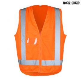 The Work-Guard Adult Safety Vest TTMC-W is a 120gsm polyester hi vis vest. S - 5XL. Orange or Yellow. Great branded hi vis safety vests.