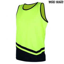 The Work-Guard Peak Performance Safety Singlet is a polyester, 135gsm hi vis singlet.  S - 5XL.  4 colours.  Great branded hi vis workwear from Work-Guard.