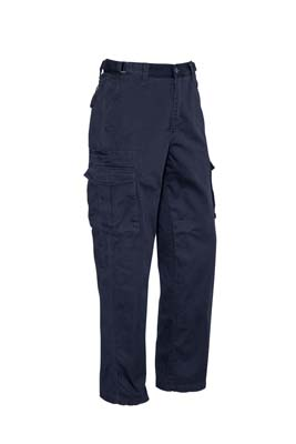 The Syzmik Mens Basic Cargo Pant is a regular, cotton drill, 310gsm work pant. 8 pockets. Navy. Great pants and workwear from Syzmik.