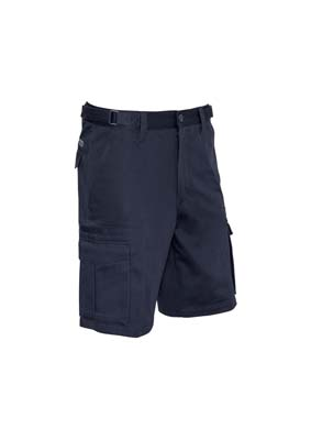The Syzmik Basic Cargo Short is a 310gsm cotton drill cargo short.  Navy.  72 - 132.  Great work shirts and trade work wear from Syzmik.