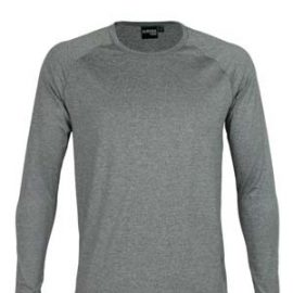 The Aurora Sports Stadium Long Sleeve Tee is a 150gsm, 90% polyester, long sleeve tee.  3 colours.  S - 5XL.  Great branded long sleeve performance tees.