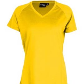 The Aurora Sports Womens XT Performance Tee is a v-neck, polyester performance tee. Quick dry. 9 colours. 8 - 18. Great performance sports wear.