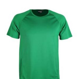 The Aurora Sports Kids XT Performance Tee is a v-neck, polyester performance tee.  Quick dry.  9 colours.  6 - 14.  Great performance sports wear.